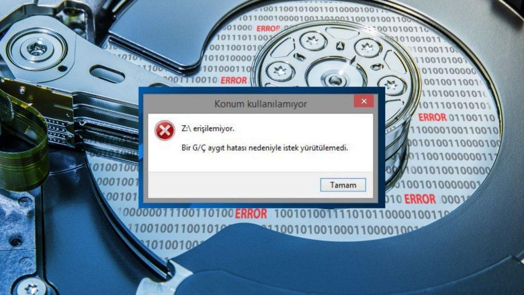 G/Ç aygıt hatası nedeniyle 'istek yürütülemedi' hatası nasıl çözülür?İşletim sistemi Windows olan bir bilgisayarınıza bağlamış olduğunuz harici depolama aygıtını açmak istediğiniz…